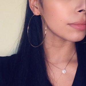 80mm gold hoop earrings
